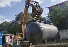 农村污水处理设备吊装